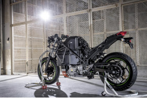 Electric powered bike unveiled by Kawasaki...