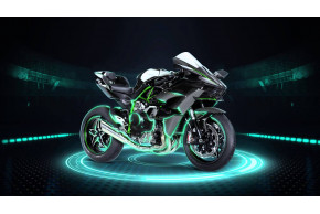 Ninja H2R and Ninja H2 secured for Motorcycle Live